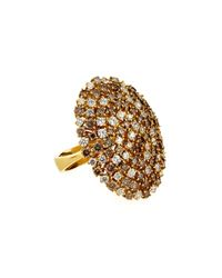 Roberto Coin | Metallic 18k White & Brown Diamond Cocktail Ring | Lyst