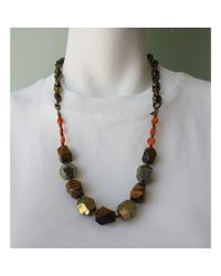 Native Rainbow | Multicolor Pyrite & Tiger's Eye Nugget Necklace | Lyst