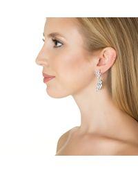 Kenneth Jay Lane | Metallic Marquis Hanging Earrings | Lyst