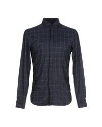 Emporio Armani - Blue Shirt for Men - Lyst