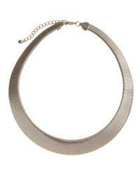 John Lewis | Metallic Gold Toned Flex Necklace | Lyst