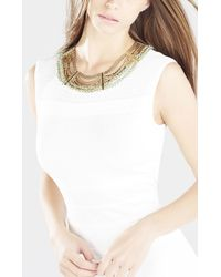 BCBGMAXAZRIA | Metallic Chain And Cord Necklace | Lyst