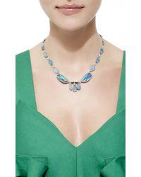 Nina Runsdorf - Multicolor 18K White Gold Opal Necklace - Lyst