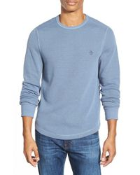 Original Penguin | Blue Reversible Waffle Knit Long Sleeve Shirt for Men | Lyst