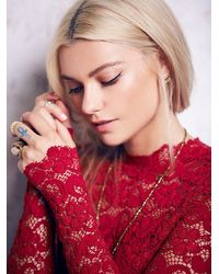 Free People - Red Dixie Lace Catsuit - Lyst