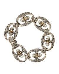 Konstantino | Metallic Double-Pearl Link Bracelet | Lyst
