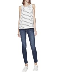 French Connection - White Polly Plains Stripe Vest Top - Lyst