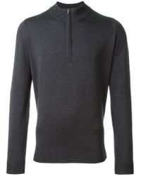 John Smedley - Gray 'wyvern' Sweater for Men - Lyst