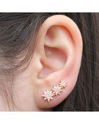 Anne Sisteron | Pink 14kt Rose Gold Diamond Stars Ear Cuff | Lyst