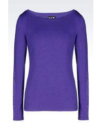 EA7 - Purple Long Sleeved T-shirt - Lyst