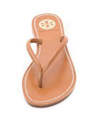 Tory Burch - Brown Abitha Flip Flops - Lyst