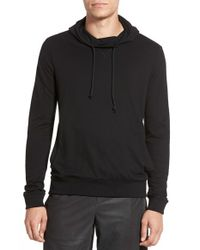 Vince - Black Trim Fit Pima Cotton Blend Hoodie for Men - Lyst