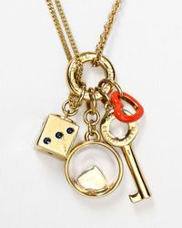 """Marc By Marc Jacobs - Multicolor Key To My Heart Cluster Pendant Necklace, 18"""" - Lyst"""