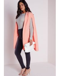 Missguided - Pink Plus Size Cape Blazer Crepe Blush - Lyst