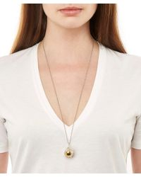 True Rocks - Multicolor Medium Rose Gold-plated Spinning Globe Necklace - Lyst
