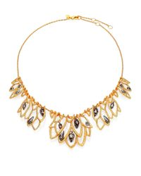 Alexis Bittar | Metallic Elements Phoenix Crystal Lace Leaf Bib Necklace | Lyst