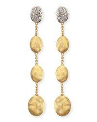 Marco Bicego - Metallic Dangling 18k Gold Earrings With Diamonds - Lyst