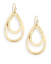 Stephanie Kantis | Metallic Moonstone Double Hammered Teardrop Earrings | Lyst