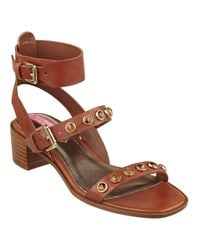 Isaac Mizrahi New York | Brown Strap 2 Faux Leather Sandals | Lyst
