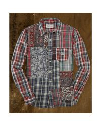 Denim & Supply Ralph Lauren - Multicolor Toby Onepocket Patchwork Shirt for Men - Lyst