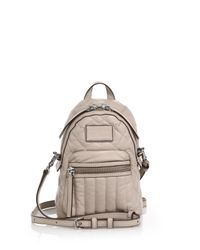 Marc By Marc Jacobs - Natural Domo Quilted Leather Backpack - Lyst