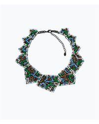 Zara | Gray Geometric Piece Necklace | Lyst