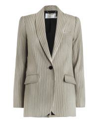 Zimmermann - Gray Mischief Pinstriped Blazer - Lyst