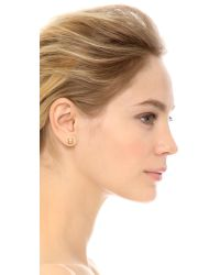 House of Harlow 1960 - Metallic Plateau Earrings Set - Gold/turquoise - Lyst