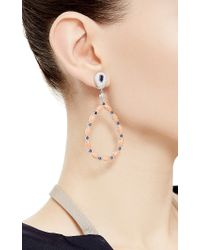 Abellan New York - Multicolor One Of A Kind Angel Skin Coral, Blue Sapphire And Diamond Earrings - Lyst