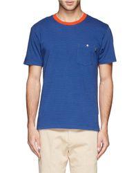 Paul Smith - Blue Contrast Neckline Stripe T-shirt for Men - Lyst