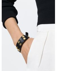 Tory Burch | Black Logo Stud Bracelet | Lyst