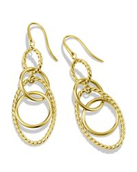 David Yurman | Yellow Mobile Small Link Earrings In Gold | Lyst
