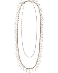 Isabel Marant | Metallic Silver Tiered Fringe Necklace | Lyst