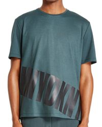 DKNY - Green Printed Crew Neck for Men - Lyst