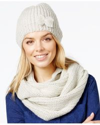 Rampage | Natural Lurex Hat & Infinity Loop Gift Set | Lyst