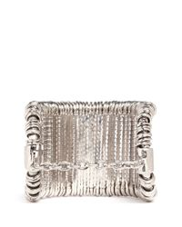 Alexander McQueen - Metallic Wire And Ring Cuff - Lyst