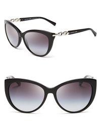 Michael Kors - Black Gstaad Chainlink Cat Eye Sunglasses - Lyst