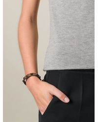 Valentino - Brown 'Rockstud' Bracelet - Lyst