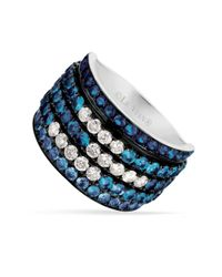 Le Vian | Blue Sapphire (2-1/6 Ct. T.w.) And White Sapphire (1/2 Ct. T.w.) Ring In 14k White Gold | Lyst
