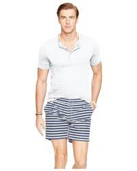 Polo Ralph Lauren | White Short-sleeved Pima Henley for Men | Lyst