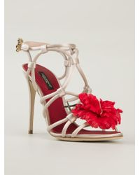 Dolce & Gabbana - Natural 'keira' Sandals - Lyst