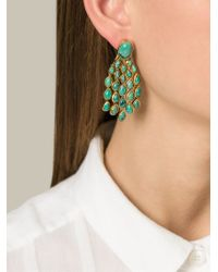 Aurelie Bidermann - Metallic 'cherokee' Earrings - Lyst