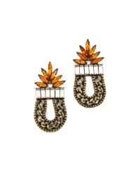 DANNIJO | Brown Amira Earrings | Lyst