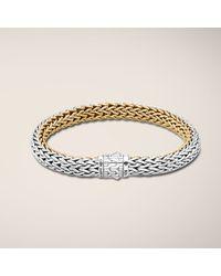 John Hardy | Metallic Medium Reversible Bracelet | Lyst