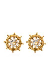 Alex Monroe - Metallic Baby Ship's Wheel Earrings - Lyst