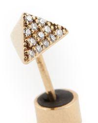 Ileana Makri - Metallic 'pyramid' Diamond Earring - Lyst