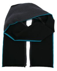Paul Smith - Black Contrast Knit Scarf for Men - Lyst