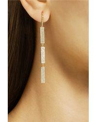Jennifer Meyer - Metallic 18-Karat Gold Diamond Drop Earrings - Lyst