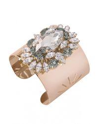 Anton Heunis | Pink Crystal Cluster Cuff Bracelet | Lyst