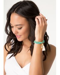 Bebe - Blue Howlite Stretch Bracelet - Lyst